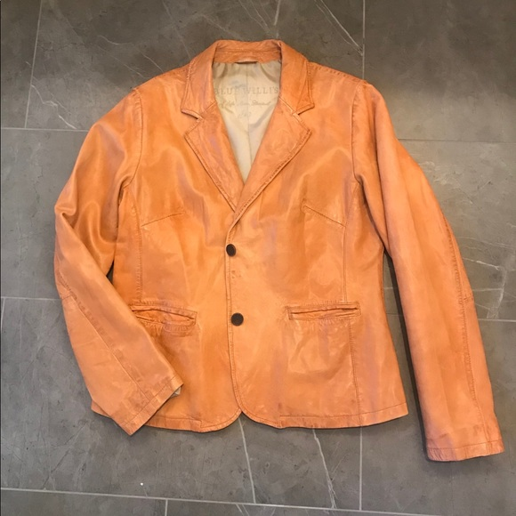 Blue Willi's Jackets & Blazers - Blue Willi's Leather Blazer